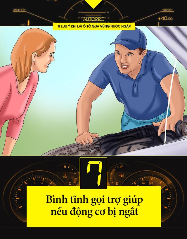 8 lưu ý khi lái xe ô tô qua nước ngập - Ảnh 7.