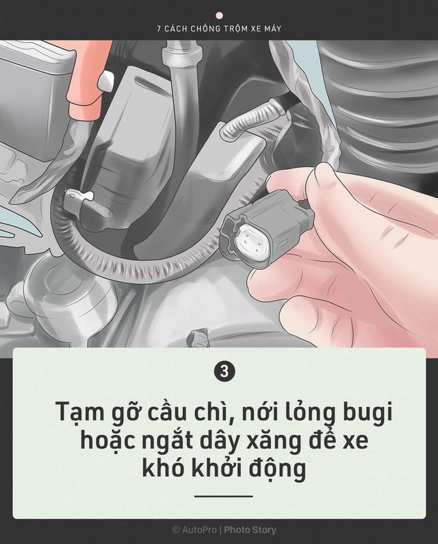 [Photo Story] Trước khi cần tới Hiệp sỹ đường phố, chính bạn hãy bảo vệ xe của mình - Ảnh 3.