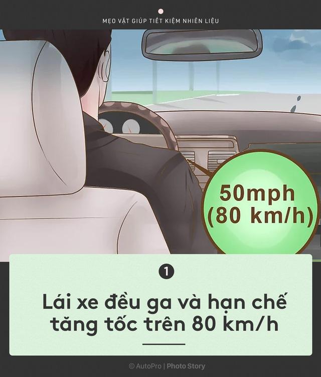 [Photo Story] Nắm được những nguyên tắc sau để lái xe ít hao xăng nhất - Ảnh 1.