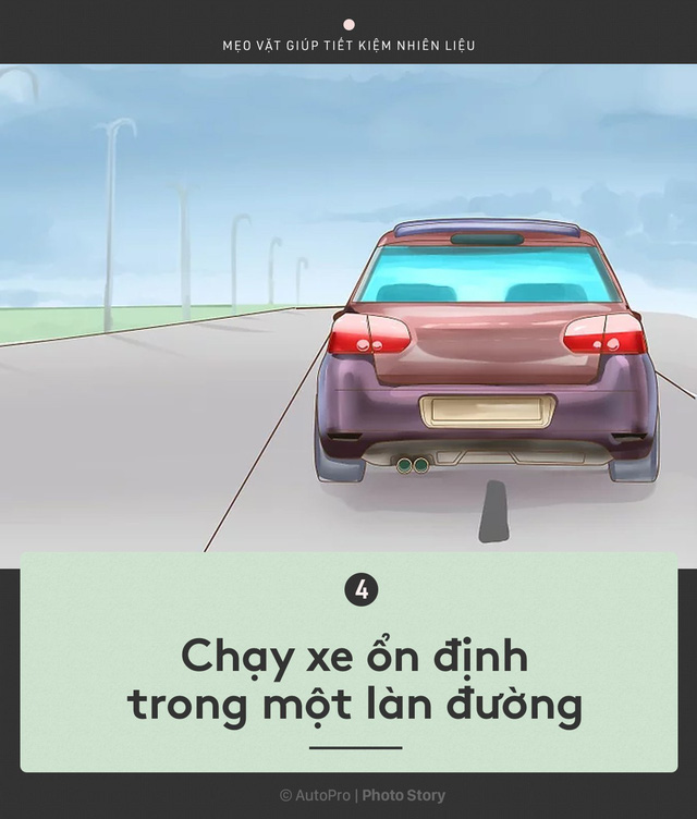 [Photo Story] Nắm được những nguyên tắc sau để lái xe ít hao xăng nhất - Ảnh 4.