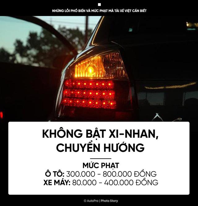 [Photo Story] Những lỗi phổ biến và mức phạt mà tài xế Việt cần biết - Ảnh 4.