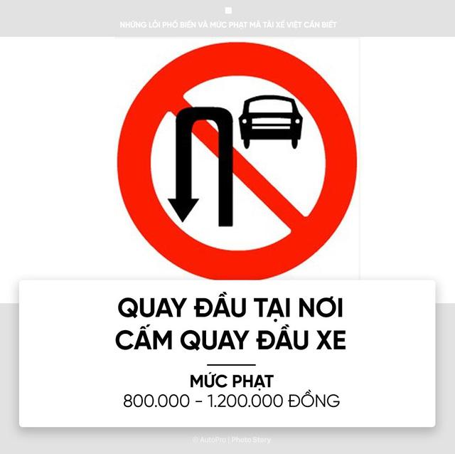 [Photo Story] Những lỗi phổ biến và mức phạt mà tài xế Việt cần biết - Ảnh 6.