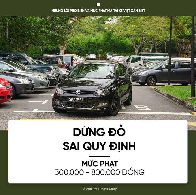 [Photo Story] Những lỗi phổ biến và mức phạt mà tài xế Việt cần biết - Ảnh 8.