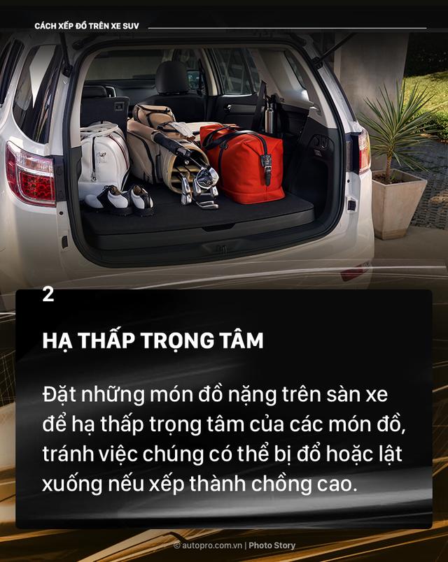 [Photo Story] Đây là các cách xếp đồ gọn gàng trên SUV mà bạn cần biết - Ảnh 2.