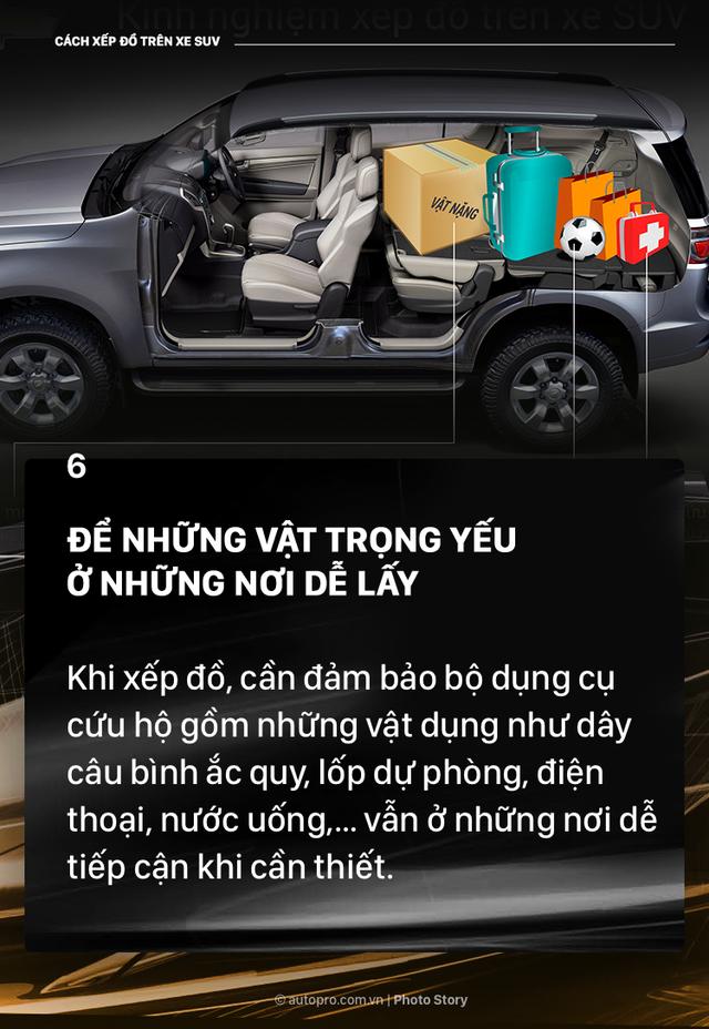 [Photo Story] Đây là các cách xếp đồ gọn gàng trên SUV mà bạn cần biết - Ảnh 6.
