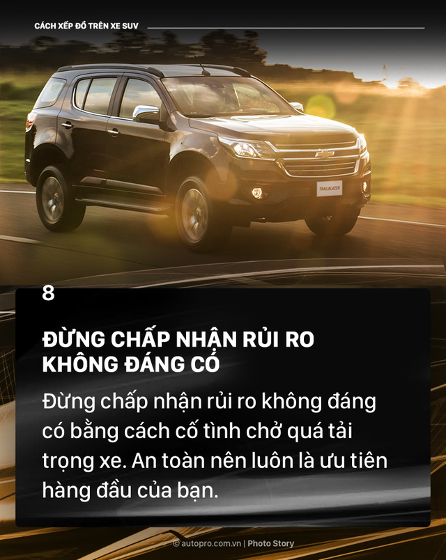 [Photo Story] Đây là các cách xếp đồ gọn gàng trên SUV mà bạn cần biết - Ảnh 8.