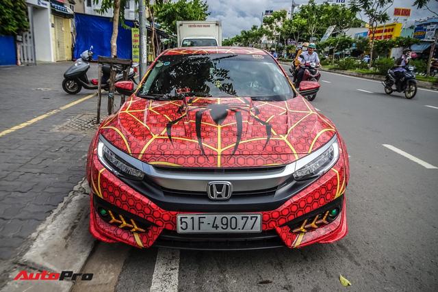 Chiều con nhỏ, ông bố tại Sài Gòn độ Honda Civic Turbo theo phong cách người nhện - Ảnh 3.