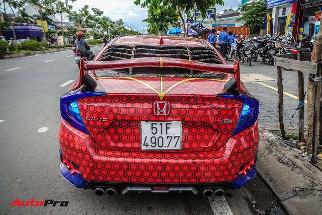 Chiều con nhỏ, ông bố tại Sài Gòn độ Honda Civic Turbo theo phong cách người nhện - Ảnh 10.