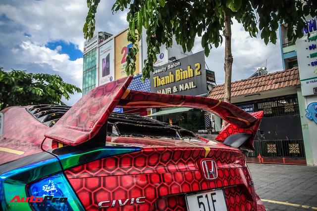Chiều con nhỏ, ông bố tại Sài Gòn độ Honda Civic Turbo theo phong cách người nhện - Ảnh 11.
