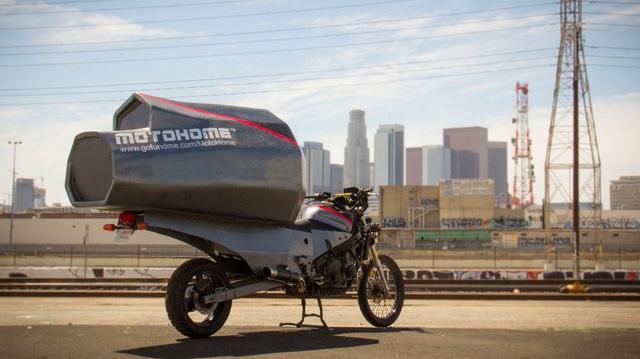 Sinh viên biến Honda CB thành nhà di động đi muôn nơi
