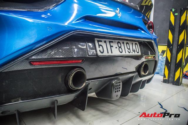 Sieu xe Ferrari 488 GTB cua dan choi Da Lat do bodykit SVR tri gia hang tram trieu dong