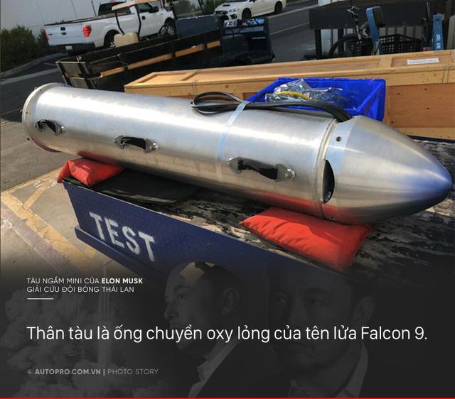 [Photo Story] Có gì đặc biệt trong tàu ngầm mini Tesla mang tới giải cứu các cầu thủ Thái Lan - Ảnh 1.