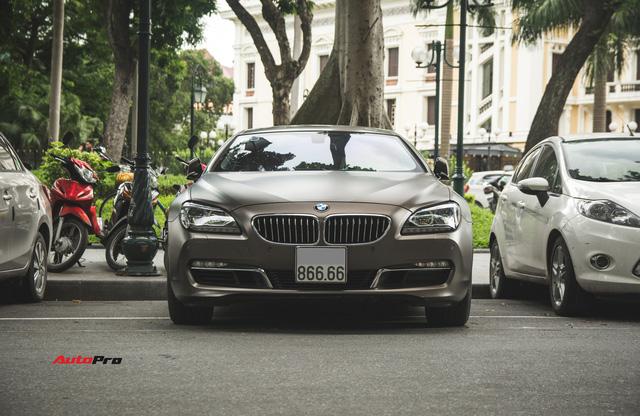BMW 640i Gran Coupe màu lạ, biển phát lộc dạo phố Hà Thành - Ảnh 2.