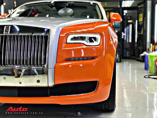 Rolls-Royce Ghost màu cam đầu tiên Việt Nam của đại gia Sài Gòn - Ảnh 2.