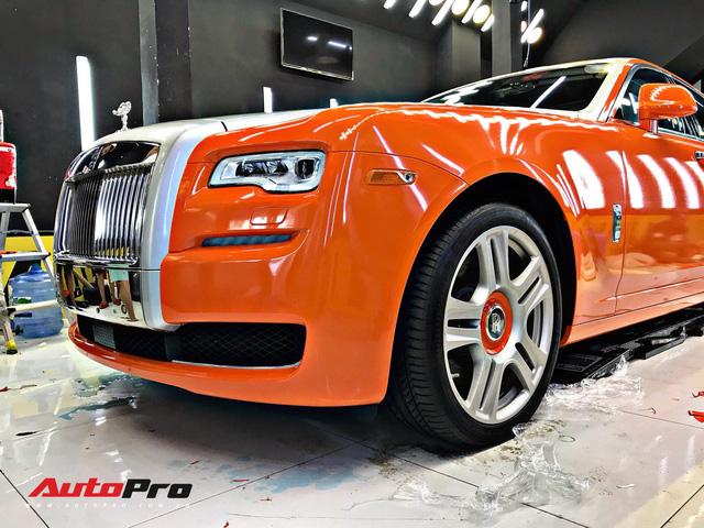 Rolls-Royce Ghost màu cam đầu tiên Việt Nam của đại gia Sài Gòn - Ảnh 1.