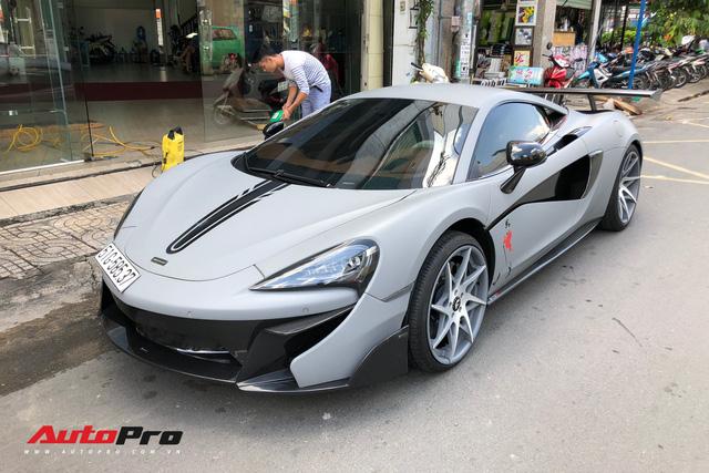 McLaren 570-VX Vorsteiner tung cua Cuong Do La ra bien so Sai Gon