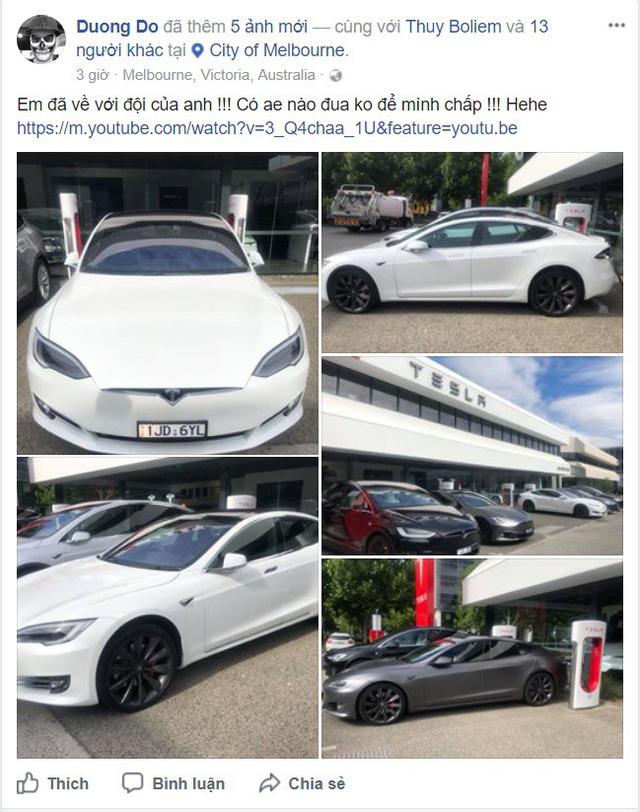 Chồng siêu mẫu Ngọc Thạch tậu Tesla Model S tăng tốc từ 0 – 100 km trong 2,7 giây - Ảnh 3.