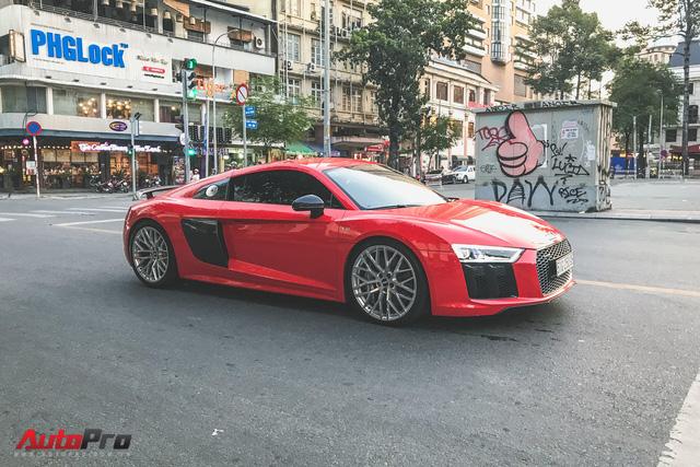 Audi R8 V10 Plus từng của Đông Nhi và Ông Cao Thắng tái xuất trên phố - Ảnh 1.