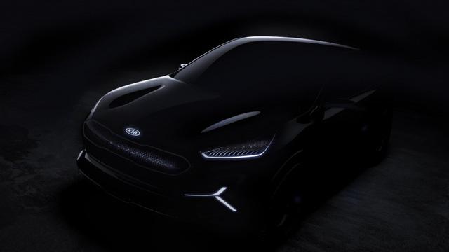 """Kia """"nhá hàng"""" xe điện Niro dùng màn LED thay lưới tản nhiệt tại CES 2018 - Ảnh 1."""