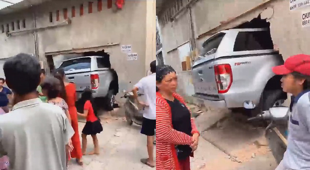 Chưa kịp đón Tết, chủ Ford Ranger tại Sài Gòn méo mặt vì đâm xuyên thủng tường nhà đối diện - Ảnh 1.