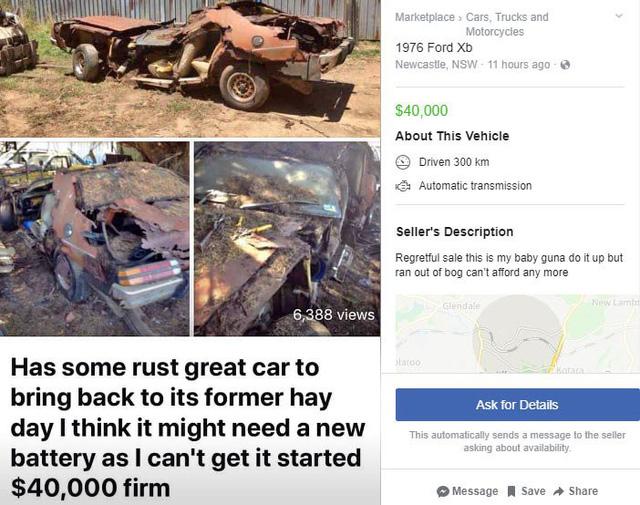 Rao bán xe Ford tàn tạ hết sức nhưng mức giá và lời khẳng định của chủ xe khiến ai cũng giật mình - Ảnh 1.