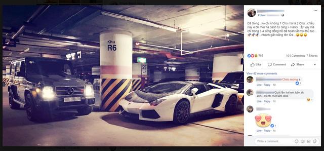Đại gia đồng hồ chục tỷ Hà Nội sắm bộ đôi xe khủng, thêm Lamborghini Aventador Roadster thứ 2 độc hơn chiếc trước - Ảnh 1.