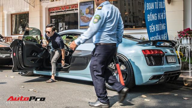 Sau tin đồn bán xe, Cường Đô La và Đàm Thu Trang xuất hiện cùng chiếc Audi R8 V10 Plus - Ảnh 3.