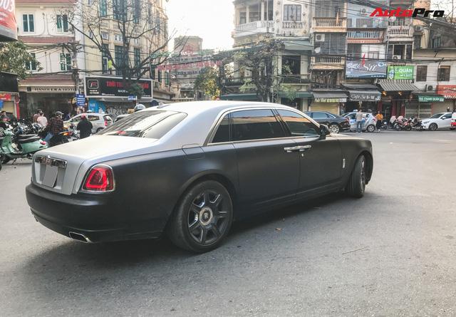 Rolls-Royce Ghost EWB cực hiếm tại Việt Nam dán decal phong cách cafe Trung Nguyên - Ảnh 2.