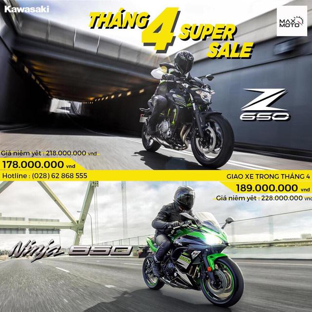 Đấu Honda, Kawasaki giảm giá đồng loạt nhiều mẫu mô tô tại Việt Nam, cao nhất 41 triệu đồng - Ảnh 1.