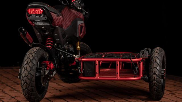 Honda MSX độ thành sidecar 3 bánh cực độc cho dân chơi xe côn tay - Ảnh 2.