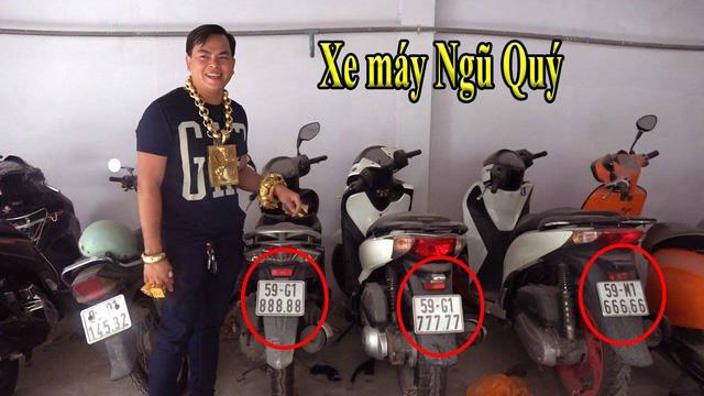 Phúc XO - Người đeo nhiều vàng giả nhất Việt Nam - có dàn xe biển ngũ quý cũng là đồ giả nốt - Ảnh 3.