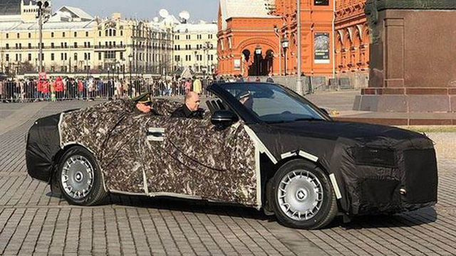 """""""Rolls-Royce của nước Nga"""" Aurus chạy thử phiên bản sang chảnh mới"""