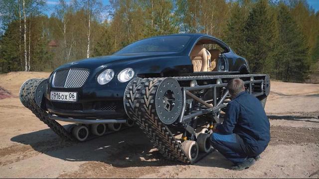 Dân chơi độ Bentley Continental GT thành xe tăng siêu sang - Ảnh 4.