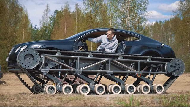 Dân chơi độ Bentley Continental GT thành xe tăng siêu sang - Ảnh 1.
