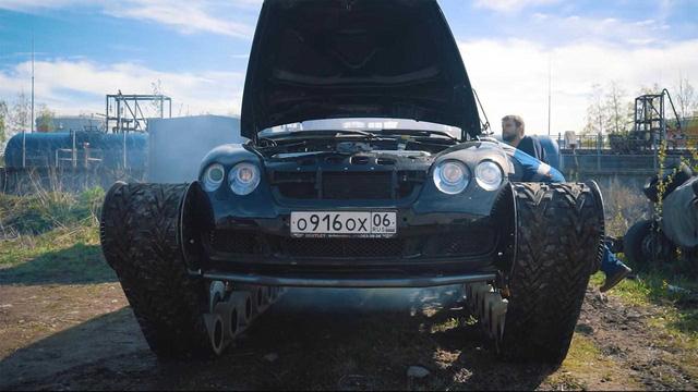 Dân chơi độ Bentley Continental GT thành xe tăng siêu sang - Ảnh 2.