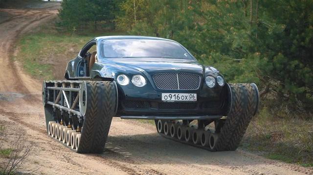 Dân chơi độ Bentley Continental GT thành xe tăng siêu sang