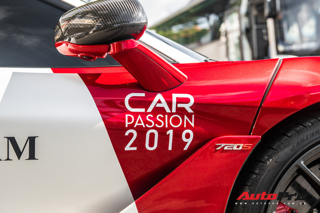 McLaren 720S của trưởng đoàn Car Passion 2019 đổi màu phong cách xe đua F1 trước giờ G - Ảnh 6.