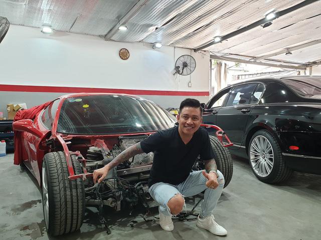 Siêu xe Ferrari 488 GTB của ca sĩ Tuấn Hưng sẵn sàng hồi sinh sau tai nạn - Ảnh 1.