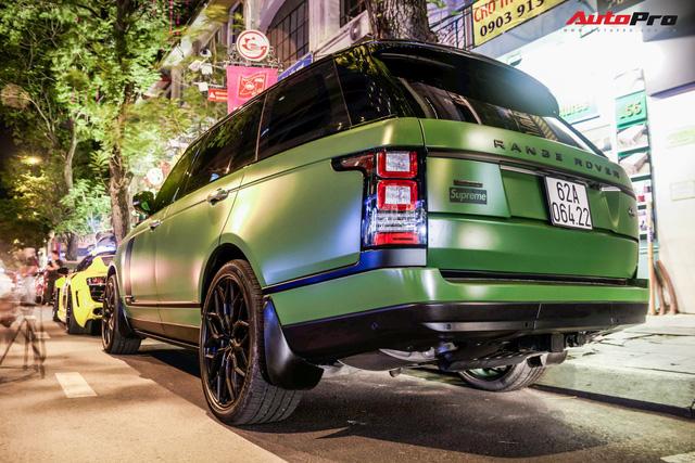 Range Rover LWB Autobiography của dân chơi Long An độ mâm hàng hiệu, dán màu quân đội khiến nhiều người tưởng là của ông Đặng Lê Nguyên Vũ - Ảnh 3.