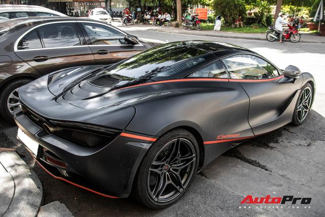 McLaren 720S đầu tiên tại Việt Nam bất ngờ xuất hiện ở Sài Gòn, nhưng lớp decal mới gây chú ý - Ảnh 12.