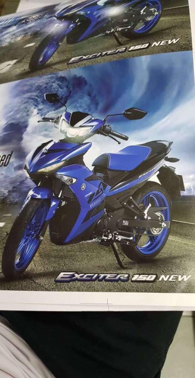 Hình ảnh chụp lại từ catalogue xe Yamaha Exciter 150 sắp ra mắt.