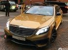 Bắt gặp Mercedes-Benz S63 AMG độ Brabus màu vàng trên phố