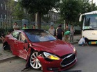 Xe an toàn nhất Tesla Model S lần đầu gặp nạn ở Trung Quốc