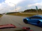 """Xe điện Model S """"thách thức"""" tốc độ siêu xe Lamborghini Aventador"""