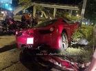 Siêu xe Ferrari 458 Italia Sài Thành gặp nạn giữa đêm khuya