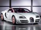 Bugatti Veyron màu trắng-hồng nữ tính cho bạn gái đại gia