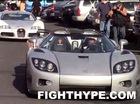"""Floyd Mayweather lái siêu xe """"dệt kim cương"""" dẫn đầu đoàn Bugatti Veyron"""