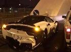 Ô tô bán tải Nissan của cảnh sát húc nát đuôi Ferrari 458 Italia