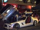 Thiếu gia Campuchia lái siêu xe Mercedes-Benz SLS AMG gây tai nạn