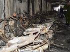 Hơn 300 xe máy cháy rụi, hầm chung cư lộ cốt thép